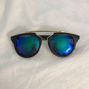 Accessories - 2/$10 Trendy Blue/Green Mirrored Lens Sunglasses